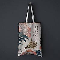 Шопер, еко-сумка Канарка, Кацусика Хокусай