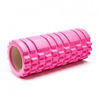 Ролик (валик) для йоги масажний і фітнесу OSPORT MS-0857 Рожевий, фото 1