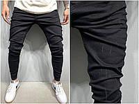 Зауженные джинсы потертые мужские черные, джинсы мужские с потертостями черные турецкого производства