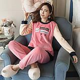 Пижама для девочек махровая, фото 2