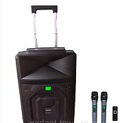 Акустика портативная с микрофонами TMS 1521 / 400W (USB-BT-2MIC-FM радио)