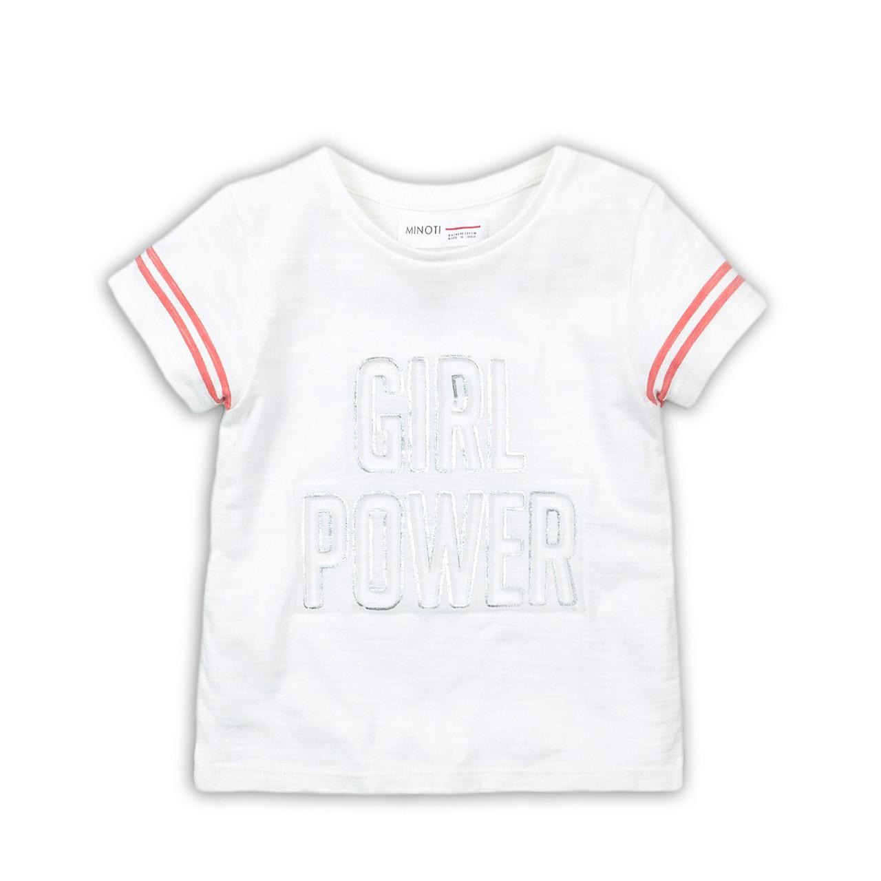 Детская футболка для девочки с надписью, Minoti 1/1,5 года, 74/86 см