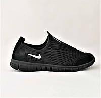 Мужские Летние Кроссовки Nike Сеточка Чёрные 42,43,45 размеры