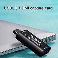 Внешняя USB 2.0 to HDMI карта видеозахвата для ноутбука и компьютера