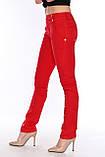 Брюки OMATjeans 9397-442 красные, фото 4