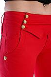 Брюки OMATjeans 9397-442 красные, фото 8