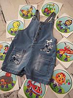 Комбинезон 3-6 мес, джинсовый комбинезон для девочки, детский ромпер, песочник для девочки, полукомбинезон