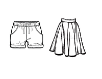 Шорты, юбки