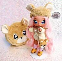 Мягкие куклы Na! Na! Na! Surprise 2-in-1 Fashion Doll мишка  Sarah Snuggles MGA Оригинал