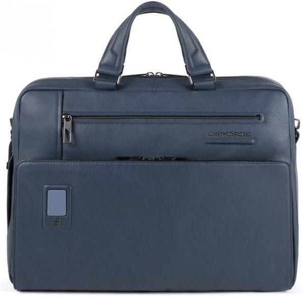 Мужской кожаный портфель Piquadro синий