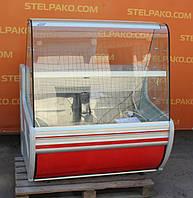 Кондитерская холодильная витрина «Cold C-12G» 1.2 м. (Польша), мраморная столешница, Б/у