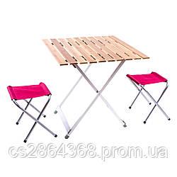 Стол кемпинговый складной+2стула 65*65*65 С03-13
