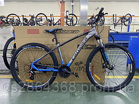 """Горный велосипед найнер Crosser Quick 29"""" ( рама 17) серо-синий"""