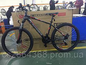 """Горный велосипед Crosser Raly 26"""" (рама 17) черно-красный"""