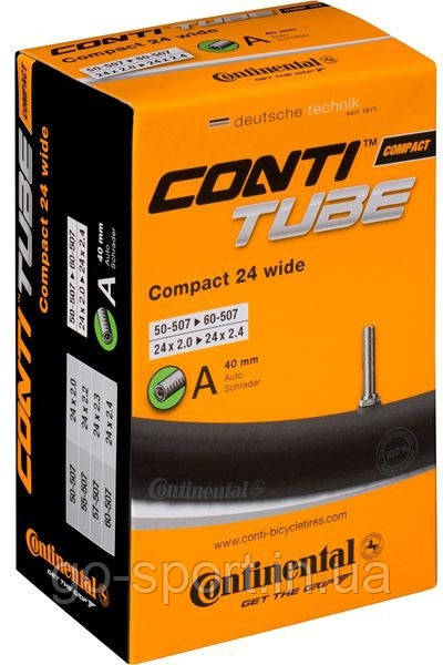 Камера Continental Conti Tube Compact 24 Wide 24x2,0-2,4 Schrader