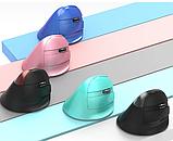Бездротова вертикальна миша Delux M618 Mini GX / Рожевий колір, фото 3