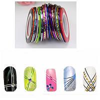Набор декоративных лент для дизайна ногтей 8 шт.