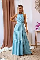 Нарядное вечернее женское платье в пол с пышной юбкой арт 1065