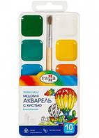 Фарби акварель «Класичні»,10 кольорів Гамма