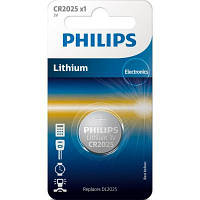 Батарейка PHILIPS CR2025 Lithium * 1 (CR2025/01B)