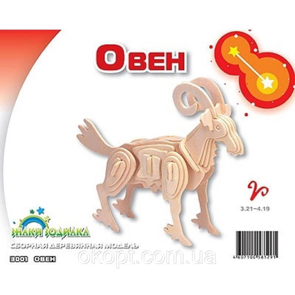 Сборная модель Мир деревянных игрушек Овен (З001)