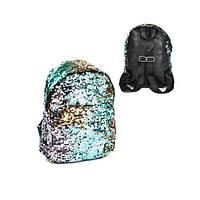 Детский рюкзак с пайетками, большой C31865, (Оригинал)