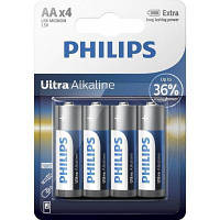 Батарейка PHILIPS AA LR6 Ultra Alkaline * 4 (LR6E4B/10)