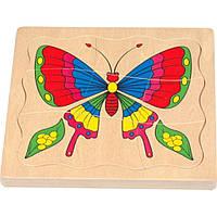 Пазл Мир деревянных игрушек Бабочка (Р 80)