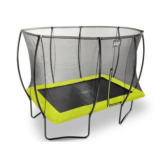 Батут EXIT Silhouette с защитной сеткой прямоугольный 214x305см зелёный на ножках