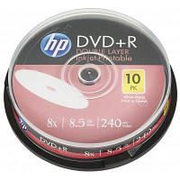 Диск DVD HP DVD+R 8.5GB 8X DL IJ PRINT 10шт Spindle (69306)