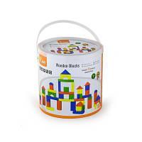 Конструктор Viga Toys Набор строительных блоков 50 шт., 3,5 см (59542)
