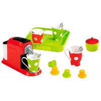 Игровой набор Ecoiffier Кофеварка Chef с посудой и подносом (002614)