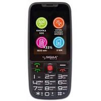 Мобильный телефон Sigma Comfort 50 Elegance 3 (1600 mAh) SIMO ASSISTANT Black (4827798233719)