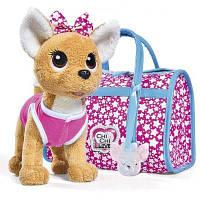 Мягкая игрушка Chi Chi Love Чихуахуа Фешн Звезда с сумочкой и подвесом светящимся (5893115)
