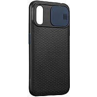 "Чехол Camshield Black TPU со шторкой защищающей камеру для Apple iPhone X / XS (5.8"")"