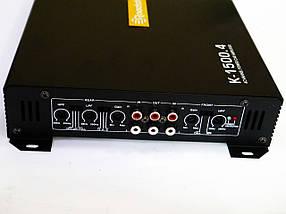 Автомобільний підсилювач звуку Roadstar K-1500.4 2000W 4-х канальний