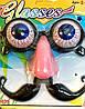 Карнавальные Очки с Выпученными Глазами Носом и Усами Прикол для Вечеринки Маскарад, фото 4