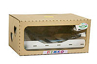 Большая деревянная кровать для кукол BigEcoToys (Б51б)