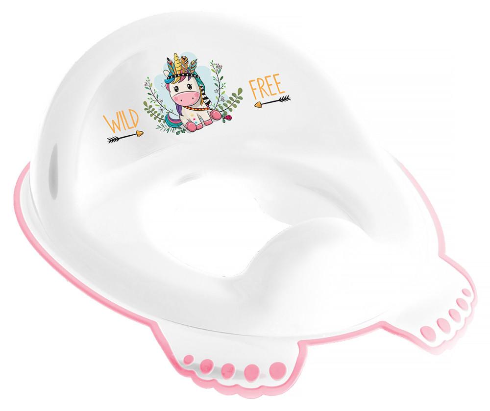 Накладка на унітаз Tega Wild & Free Unicorn DZ-002 нековзна 103 white-pink