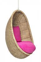 CRUZO Подвесное кресло-кокон Ирма CRUZO (для детей, подростков) натуральный ротанг светло-коричневый ks0010
