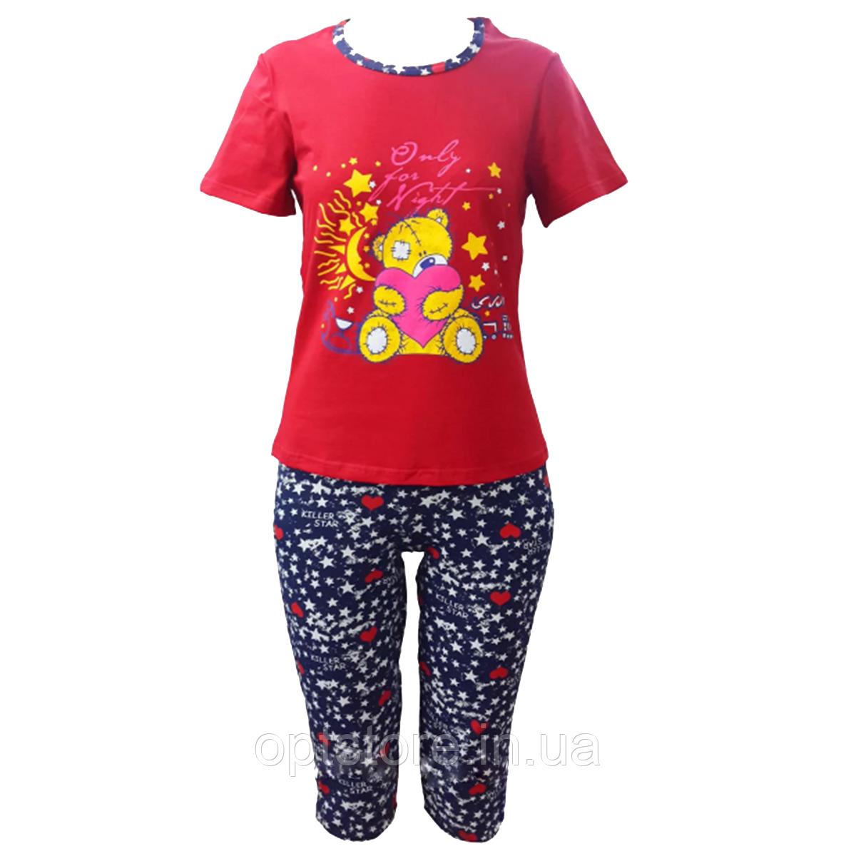 Летняя пижама с капри размер 42-52