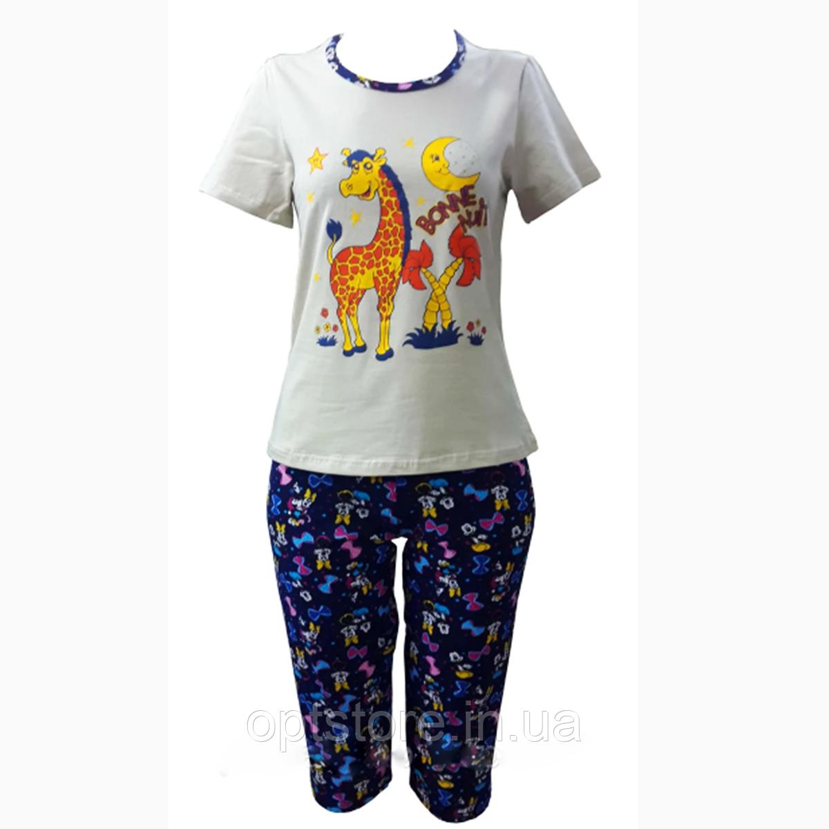 Річна піжама з капрі розмір 42-52