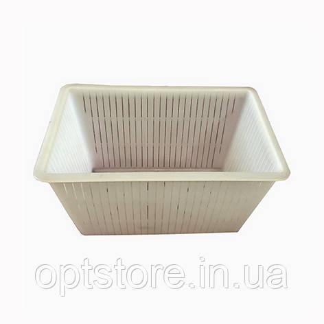 Прямоугольная форма для приготовления творога и для твердых сыров 4 L