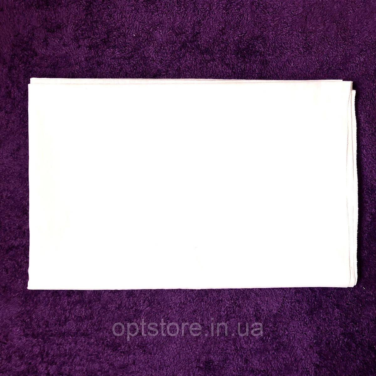 """Простынь белая 150*200 см,""""шелк""""синтетическая ткань"""