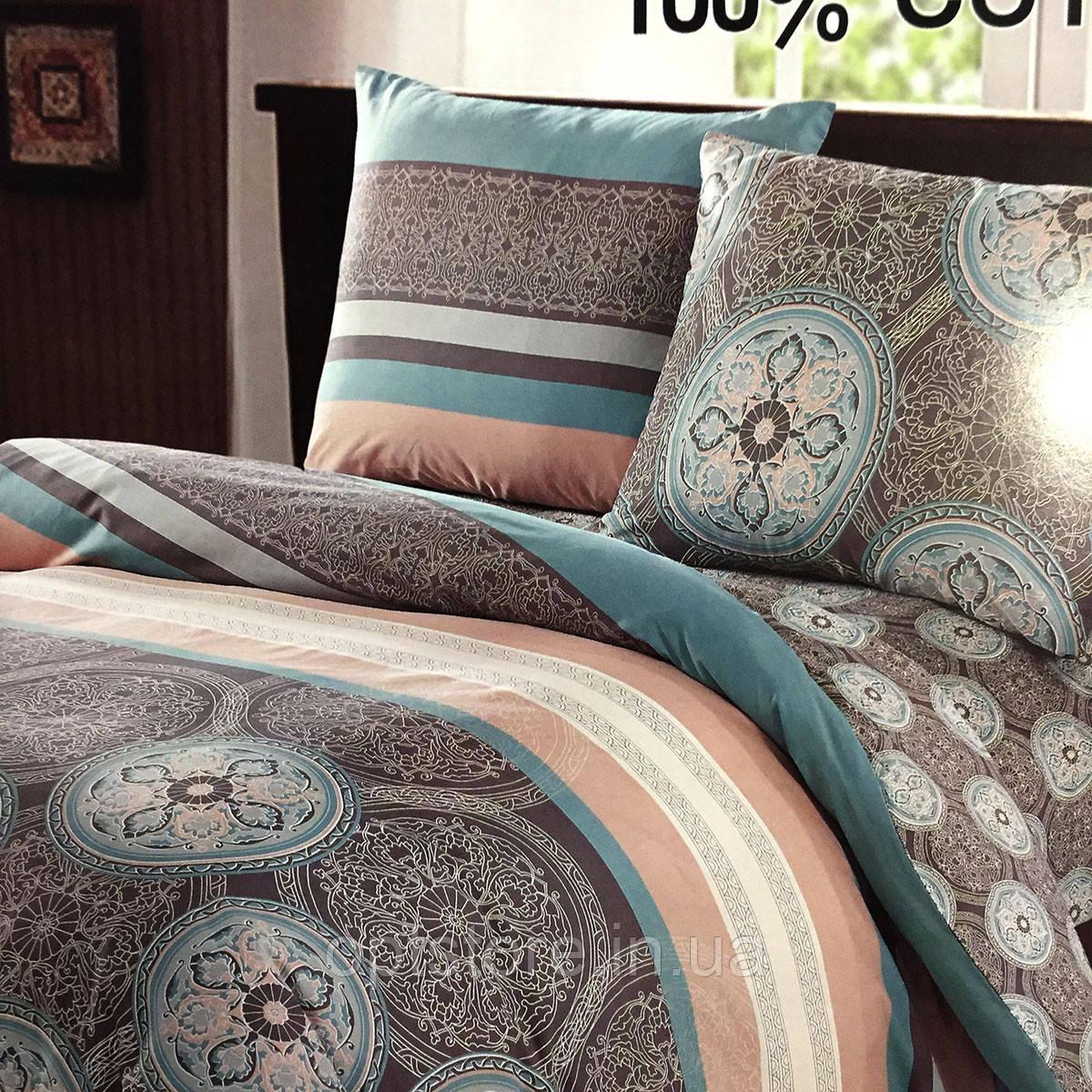 """""""Візерунки"""" Постільна білизна Elway Premium полуторний розмір 160*220 см,тканина сатин 100% бавовна"""