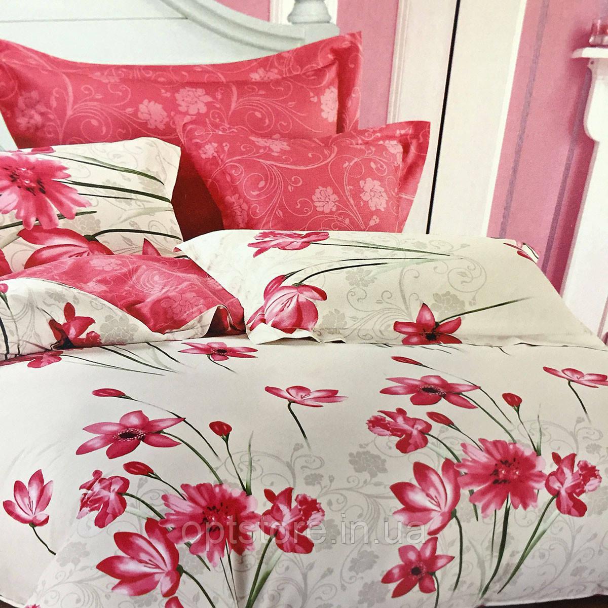 """""""цветы"""" постельное белье Elway Premium полуторный размер 160*220 см,ткань сатин 100% хлопок"""