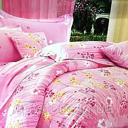 """""""розовое"""" постельное белье Elway Premium полуторный размер 160*220 см,ткань сатин 100% хлопок"""
