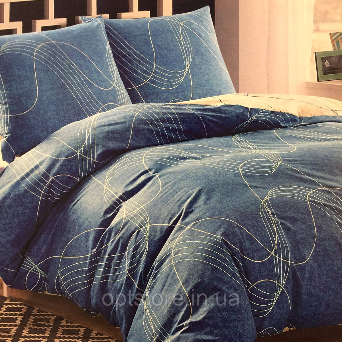 Семейный комплект постельного белья Elway Premium,ткань сатин 100% хлопок