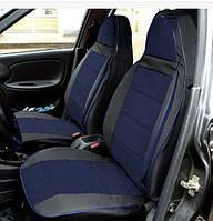 Модельні чохли Pilot ВАЗ 2107 чорний кожзам + тканина синя
