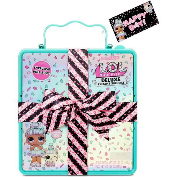 L.O.L. Surprise! Подарочный набор куколка и питомец 570707 Deluxe Present Surprise with Sprinkles Doll and Pet